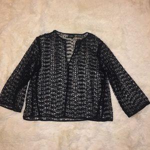 Karl Lagerfeld 3/4 slv. Crochet Lace top