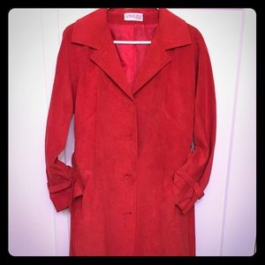 Jackets & Blazers - Vintage 70s Count Romi Red Suede trench coat