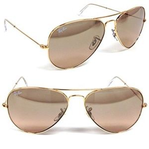 Authentic Ray Ban Aviator Gold