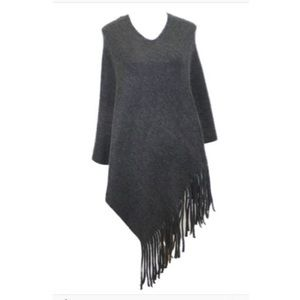 Jackets & Blazers - New black fringe poncho