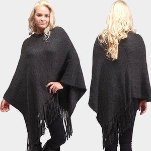 Jackets & Blazers - *** Offers***New black fringe poncho