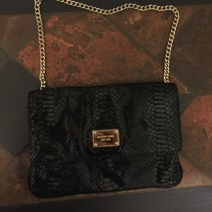 Michael Korea black python purse