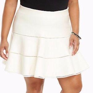 Torrid Size 3X Cream Sweater Cute Skater Skirt