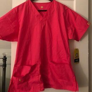 Hot Pink Scrub Set