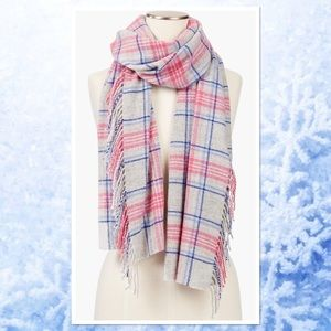 Talbots Holly Tartan Plaid Wool Scarf