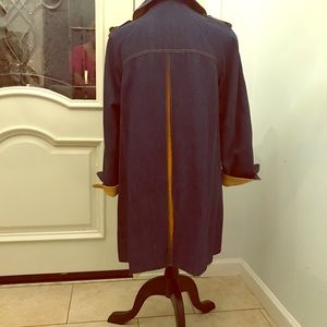 Vintage denim/leather swing coat