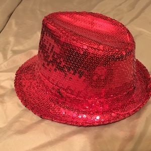 Red sequin hat for Halloween or other occasion