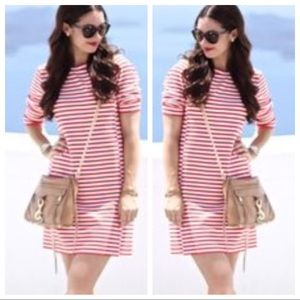 J. crew Striped Ponte Dress 3/4 Sleeve