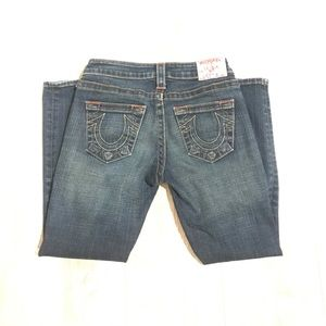 True Religion cropped skinny jeans size 25