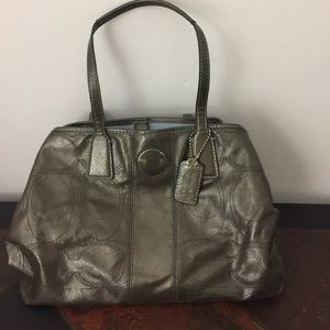 Coach pewter purse