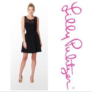 Lilly Pulitzer Rhea Black Lace Dress Size XL