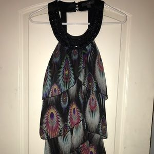 Peacock feather inspired dress