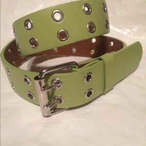 Brand New Light green genuine leather belt