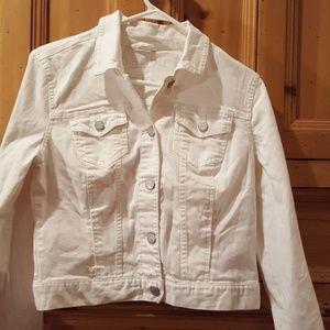 Aeropostale white jean jacket size L