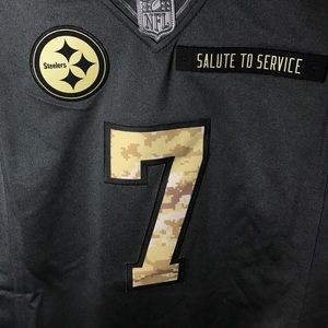 competitive price 7febe d8143 Ben Roethlisberger Jersey Steelers Salute Service NWT