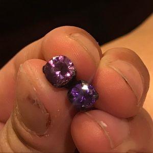 Purple cz plugs