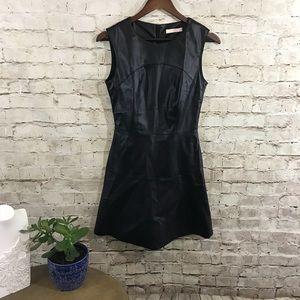 Allyson faux leather mini dress