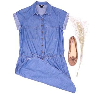 Paige Mila Denim Blue Shirt Dress