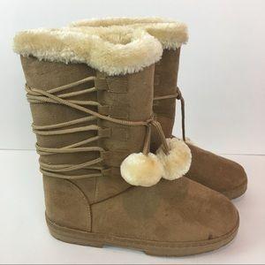 ✨NWOB Etc! Tan Comfort Boots Size XL (10)✨