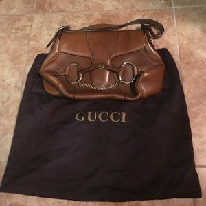 Gorgeous brown leather Gucci purse