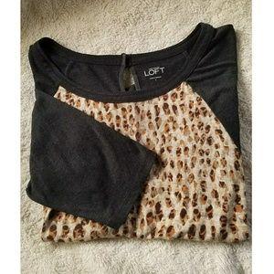 LOFT Leopard Long Sleeve Top