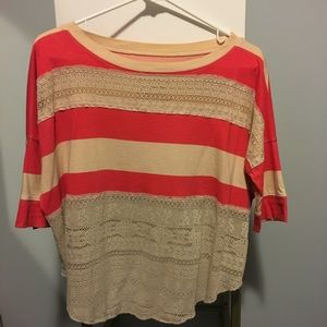 Free people Rugby striped knit top