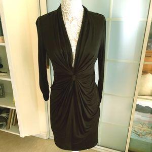 LBD - Cocktail Dress with Deep V Neck