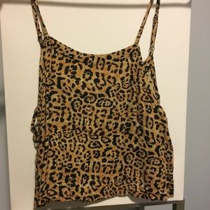 Cheetah print crop tank top