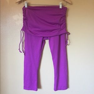Prana Patagonia Capri skirted yoga pants s