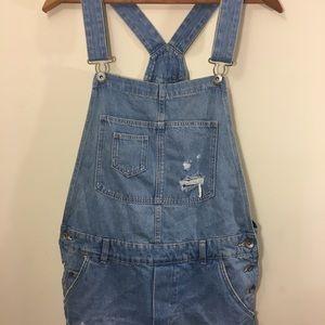 H&M light denim overalls