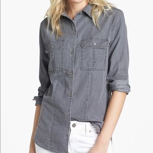Paige Ali Smoky Grey Denim Shirt