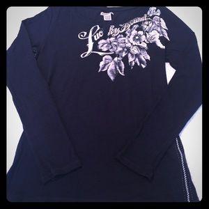 Lucky Brand navy blue long sleeve shirt, L