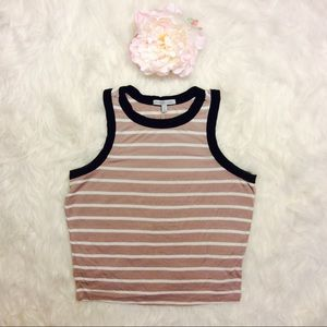 Sleeveless Striped Crop Top Charlotte Russe