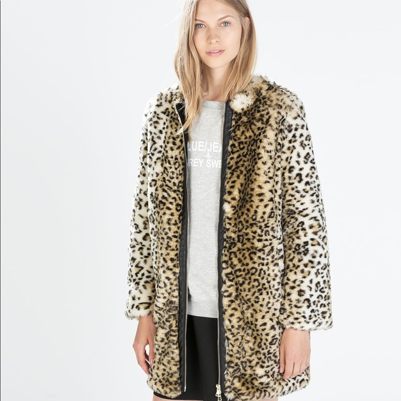 9b628ff6 Zara Jackets & Coats | Faux Fur Cheetah Print Coat | Poshmark
