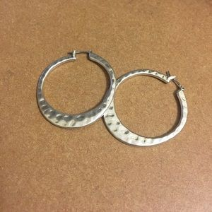 Lucky Brand Silver hoops