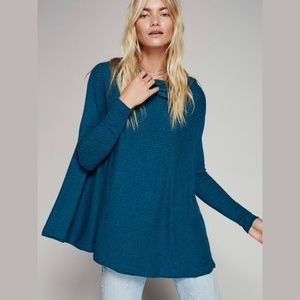 Free People 'Love' Split Back Pullover Thermal