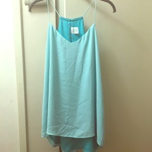 Express Teal colored tank top