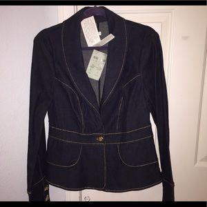Cache jean jacket size 10