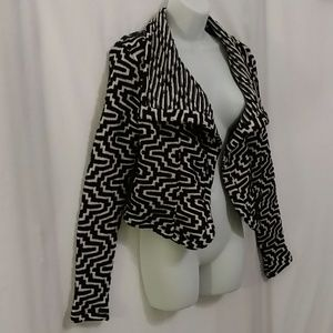 Moon Collection Text Print Wrap Cardigan NWT!