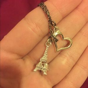 Golden-colored Eiffel Tower Necklace