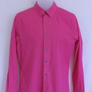Express 1MX Pink Mens Dress Shirt