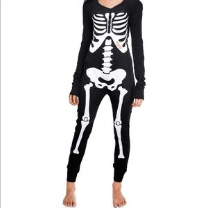 Victoria's Secret Pink Skeleton Onesie