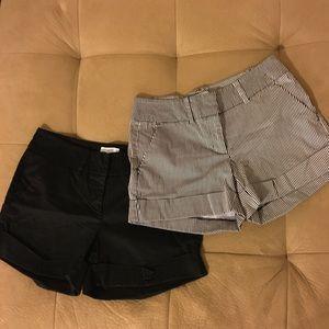 Set Of 2 New York & Co Shorts Sz 4