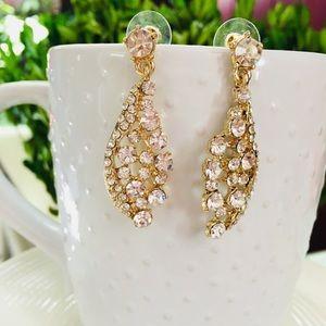 Fashionable Cz's Gold Dangles