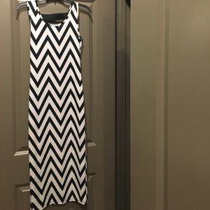 Chevron Midi Dress