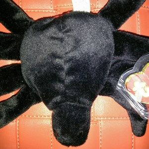 TY RARE 1st Gen Hang Tag Beanie *WEB* The SPIDER,