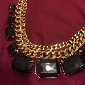 Black and Golden-Colored Necklace