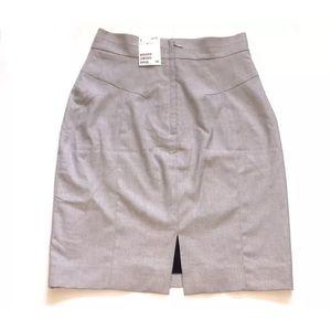 H&M Pencil Skirt Gray Back Slit size 6