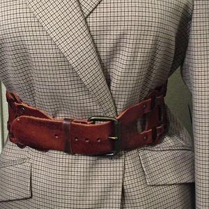 Accessories - Genuine Leather Bold Brown Belt