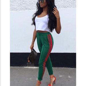 Green track pants 😍